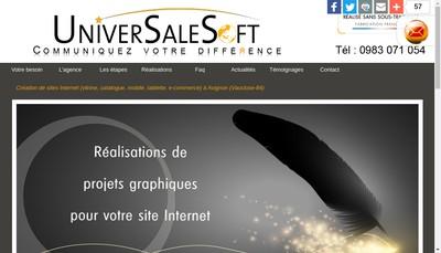 Site internet de Universalesoft