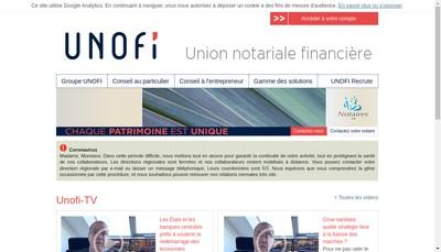 Site internet de SAS Unofi
