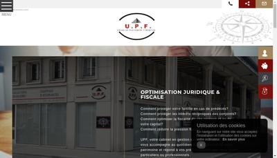 Site internet de Upf Patrimoine
