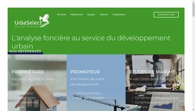 Site internet de Urba Select