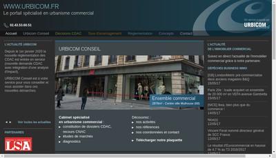 Site internet de Urbicom Conseil