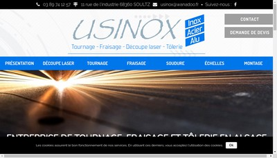Site internet de Usinox