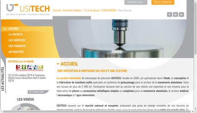 Site internet de Usitech