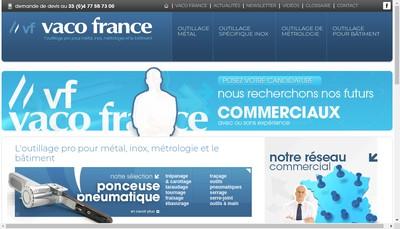 Site internet de Vaco France Fraisage Percage Taraudage
