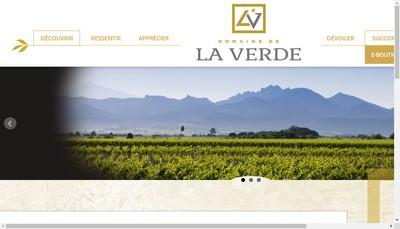 Site internet de Domaine de la Verde
