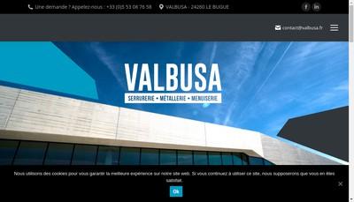 Site internet de Serrurerie Valbusa