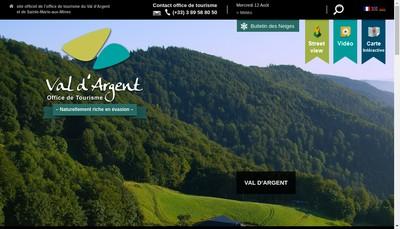 Site internet de Office Tourisme Val d'Argent