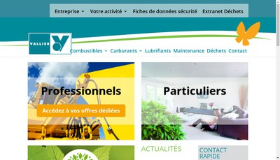 Site internet de Vallier Produtis Petroliers