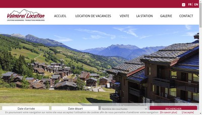 Site internet de Valmorel Location