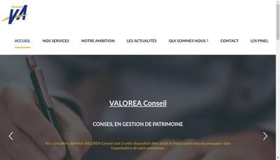 Site internet de Valorea Conseil