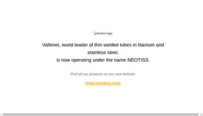 Site internet de Neotiss SAS