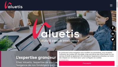 Site internet de Valuetis