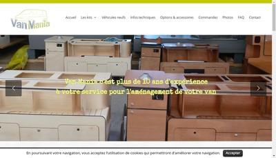 Site internet de Van Mania