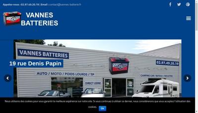 Site internet de Vannes Batteries