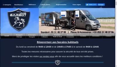 Site internet de Vans Barbot