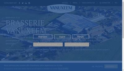 Site internet de Brasserie Vanuxeem France