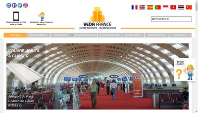 Site internet de Gv2 Veda France