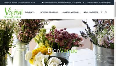 Site internet de Vegetal Fleurs et Jardins