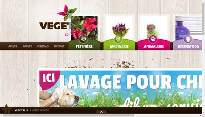 Site internet de Jardinerie Vegetalis la Londe