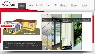 Site internet de Velarium Stores et Fermetures