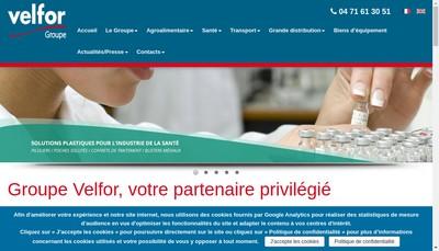 Site internet de Velfor Conditionnement