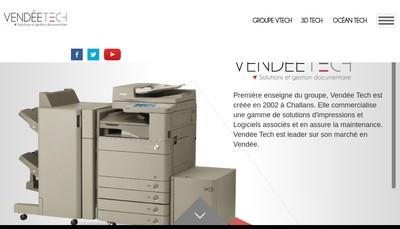 Site internet de Vendee Tech