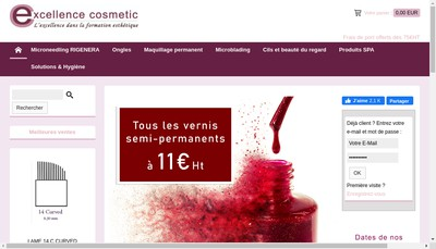 Site internet de Excellence Cosmetic