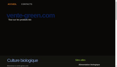 Site internet de Vente Green
