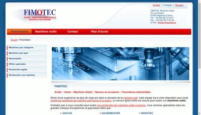 Site internet de Fimotec