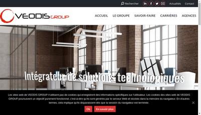 Site internet de Veodis Telecom Veodis Informatique Veodis Securite