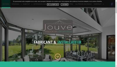 Site internet de Jouve Espace Verandas