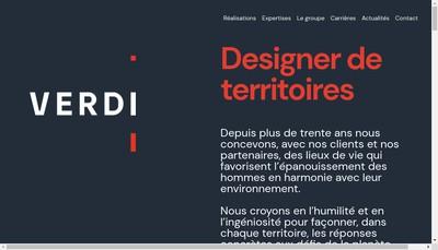 Site internet de Verdi Ingenierie Bourgogne Franche Comte Verdi
