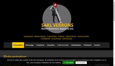 Site internet de Verrons