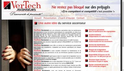 Site internet de Vertech