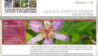 Site internet de Verte Ligne Jardins
