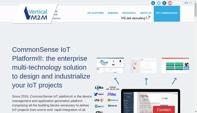 Site internet de Vertical M2M