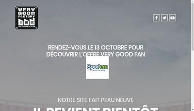 Site internet de Very Good Factory