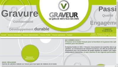 Site internet de SARL V Graveur
