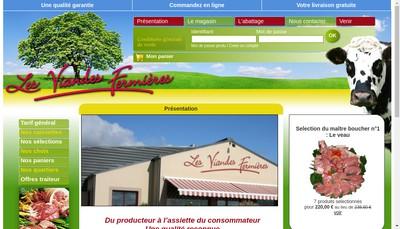 Site internet de Les Viandes Fermieres