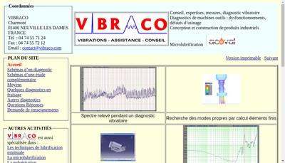 Site internet de Vibraco