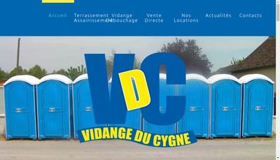 Site internet de Vidange du Cygne