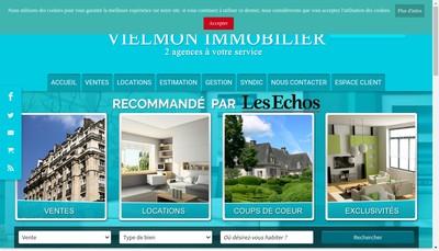 Site internet de Vielmon Immobilier