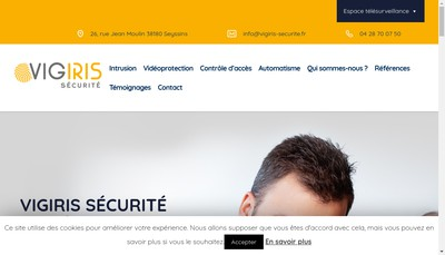 Site internet de Vigiris Securite