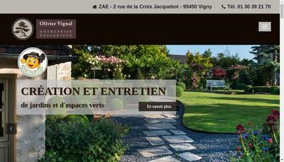Site internet de Entreprise Paysagiste Olivier Vignal