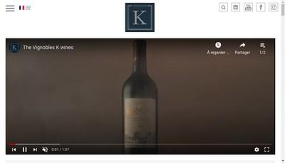 Site internet de Vignobles K