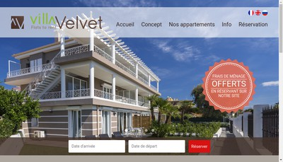 Site internet de Villa Velvet
