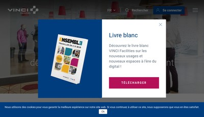 Site internet de Vinci Facilities