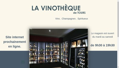 Site internet de Vinotheque de Tours