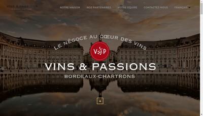 Site internet de Vins et Passions SARL