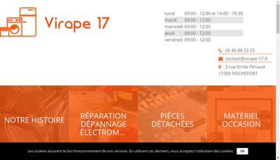 Site internet de Virape 17
